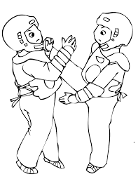 taekwondo ink and martial arts coloring pages karate