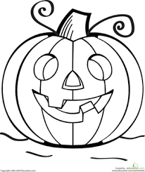 Small Picture Color the Grinning Jack O Lantern Worksheets Halloween