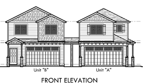 corner lot house plans. Duplex House Plans, Corner Lot D-554-a Plans
