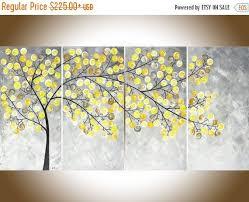 Abstract painting Yellow grey painting large wall art Modern art impasto canvas  art original artwork