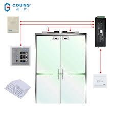 lock magnetic glass door 高优 couns k05c new access control system complete set electric
