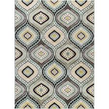 new 8 x 10 large aqua blue brown gold area rug capri rc willey pertaining to 8 10