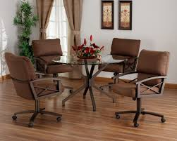 kitchen table and chairs with wheels. Outstanding Dining Room Decoration With Round Glass Top Table Sets : Great Picture Of Kitchen And Chairs Wheels E
