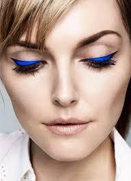 bold electric blue cat eye eyeliner turquoise eyeliner