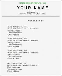 Reference Page For Resume Unique Resume Resume References Sample Format Best Reference Page Krida