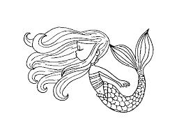 Disegno Di Sirena Galleggiante Da Colorare Acolorecom