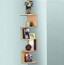 Corner Stacking Shelves Fascinating Amazon Stackable 32 Tier Oak Zig Zag Corner Wall Shelves