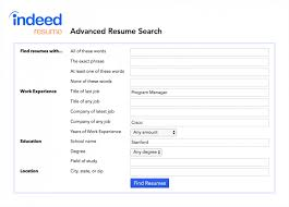 Indeed Advanced Resume Search