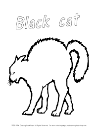 Small Picture Halloween Cat Coloring Pages Printables Coloring Coloring Pages