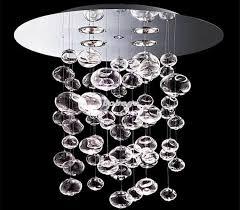 60cm murano due bubble glass chandelier suspension light glass bubble chandelier