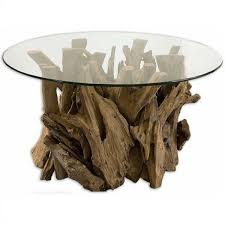 uttermost driftwood glass coffee table