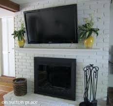 mount tv on brick fireplace mounting on brick fireplace fireplace living mount tv above brick fireplace