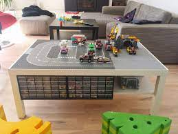 A easy to diy lego table that's compact and can be stowed away too. Lack Lego Playtable With Undertable Storage Ikea Hackers Lego Table Ikea Lego Table With Storage Lego Storage Diy