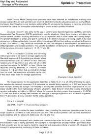 Sprinkler K Factor Chart Technical Article Sprinkler Protection For High Bay And