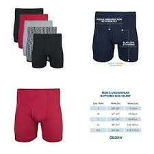 Gildan Boxer Brief Size Chart Gildan 5 Pack Boxer Briefs Mens Plush Waistband Underwear
