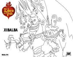 Dibujo De Xibalba Para Colorear Dibujosnet Book Of Life Book