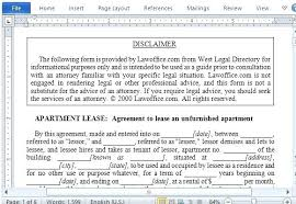 Printable Sample Free Lease Agreement Template Form Apartment Word ...