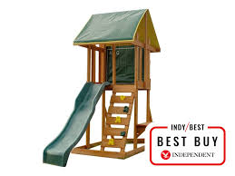 holt is a good choice for smaller gardens with a footprint of 183cm by 279cm a slide tower