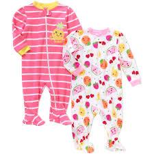 Baby Toddler Girl Cotton Tight Fit Pajamas, 4-piece set - Walmart.com