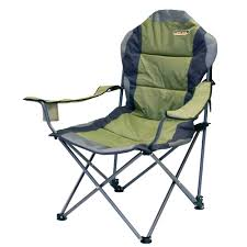 quest elite comfort folding camping chair sage with carry bag