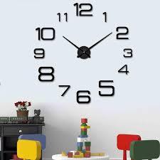 diy large wall clock modern design decorative mirror digital relogio de parede 3d wall watch stickers