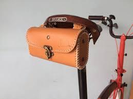 details about brompton leather saddle bag vintage bike folding bike select brown black honey