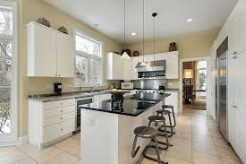 Wall Color For White Kitchen Simple House Kitchen With Clean White Cabinets And Neutral Wall