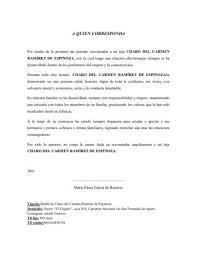Formato De Carta Referencia Personal Formato De Carta De Trabajo