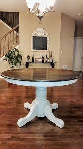 white round table top beautiful solid oak table the base done in manor white mudpaint and white round table