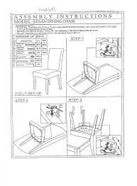 susan dining chair assemble instruction