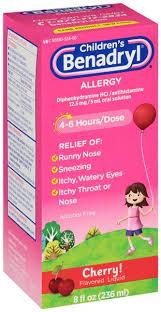 Children's Benadryl Cherry Flavored Allergy Liquid | Hy-Vee Aisles ...