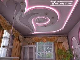 POP false ceiling designs with purple lighting system