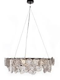 entry or dining table idea chandelier rock edge chandelier from john pomp studio ceiling style hand pour sculpted glass pc suspended from two tiered