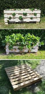 diy strawberry pallet planter
