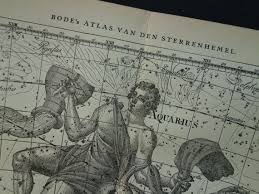 Old Zodiac Chart Old Star Chart Dutch Vintage Astrology Celstial Map Of Star