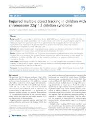 22q Deletion Growth Chart Pdf Impaired Multiple Object Tracking In Children With