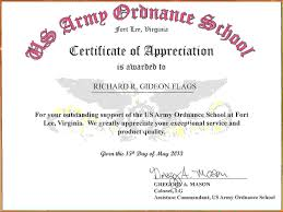 Certificate Of Achievement Examples Army Certificate Of Achievement Template Complete Guide Example 22