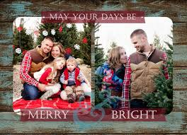 011 Christmas Card Template Photoshop Rustic 5x7 Photo Instant
