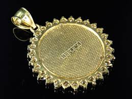 mens custom handmade 10k yellow gold replica lady liberty pendant charm 1 50