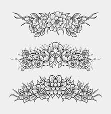 flower decoration hand drawing premium vector