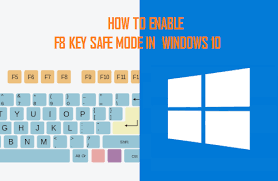 windows 10 safe mode how to enable f8 key safe mode option in windows 10