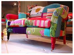 a patchwork couch!