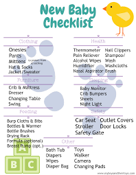 New Baby Checklist Printable My Boys And Their Toys