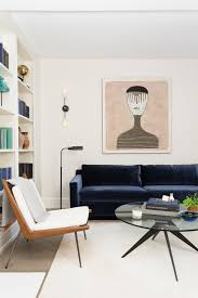 blue couches living rooms minimalist. Minimalist Living Room With Blue Sofa Couches Rooms