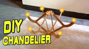 how to build a chandelier out of cardboard