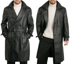 mens black leather trench coat whereiit com
