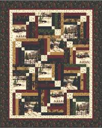 QUILT KIT Just arrived at http://www.quiltingstudio.net/ | quilts ... & Through the Winter Woods Memory Lane Quilt Kit- beautiful layout for  cheater blocks! Adamdwight.com