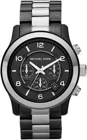 michael kors men s gun metal chronograph watch michael kors mk8182