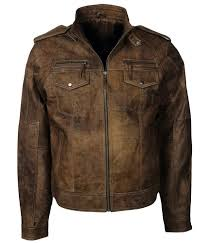 details about classic vintage distressed brown designers leather jacket mens fashion 2018