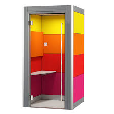 office privacy pods. Spacio Office Phone Booth Is A Single Person Acoustic Pod For Private Calls, Skype Calls Privacy Pods